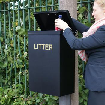 Wybone Rsb/L Post Mountable Litter Bin
