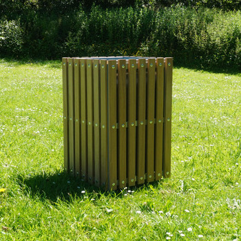 Wybone Sts/2 Slatted Square Open Top Wooden Recycling Unit