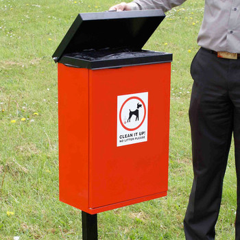 Wybone Wdb/Lufo Front Opening Dog Waste Bin With Lift Up Lid