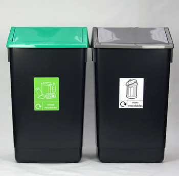Beca Budget Beater - Swing Top Bin  (Mixed Special - Set of 2) - 60 litres