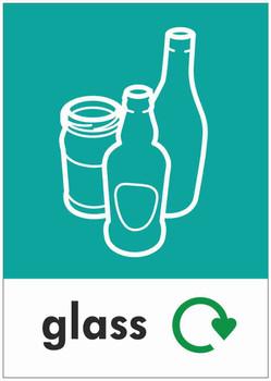 Large A4 Waste Stream Sticker - Glass