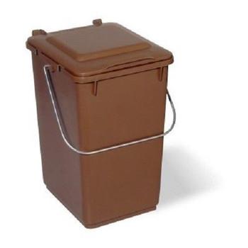 10 Litre Kitchen Waste Caddy Bin Brown