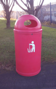 Theme Bins Classic Litter Bin in Red for Indoor & Outdoor Use - 90 Litres