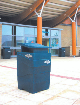 Theme Bins Imperial Litter Bin in Sapphire for Indoor & Outdoor Use - 100 Litres
