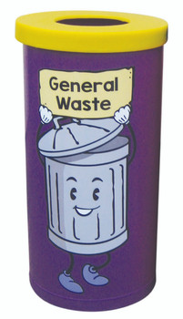 Theme Bins Popular with General Waste Graphic for Indoor Use - 70 Litres
