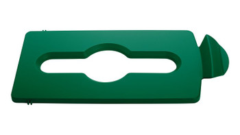 Rubbermaid Slim Jim Recycling Station Stream Topper - Green Mixed Recyclind Lid Insert