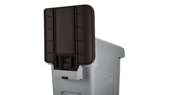 Rubbermaid Slim Jim Recycling Station Billboard - Brown