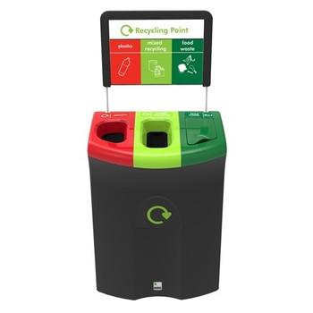 Leafield Meridian 30/40/30 Open Plastics/Open Mixed Recy/Lift Food - 110 Litre