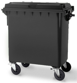 Black Wheelie Bin - 660 Litre
