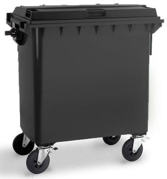Black Wheelie Bin - 770 Litre
