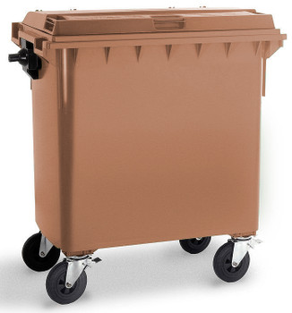Brown Wheelie Bin - 770 Litre