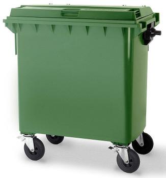 Green Wheelie Bin - 660 Litre