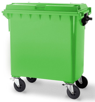 Lime Green Wheelie Bin - 660 Litre