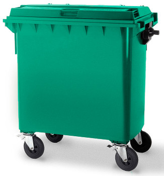 Moss Green Wheelie Bin - 660 Litre
