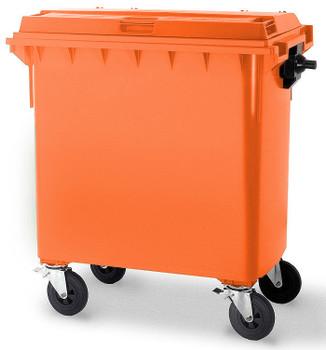 Orange Wheelie Bin - 660 Litre