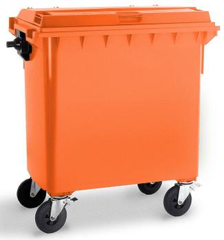 Orange Wheelie Bin - 770 Litre