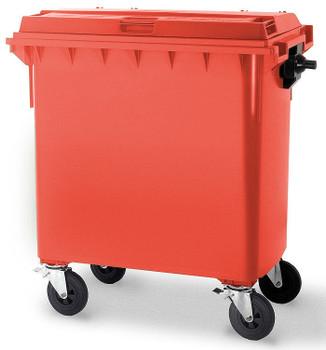 Red Wheelie Bin - 660 Litre