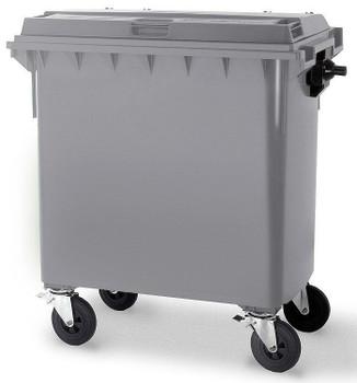 Steel Grey Wheelie Bin - 660 Litre