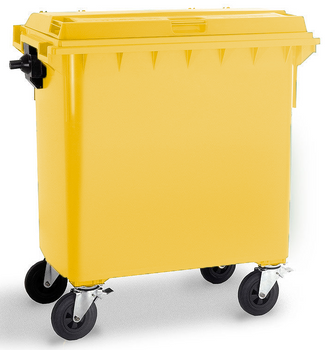 Yellow Wheelie Bin - 770 Litre