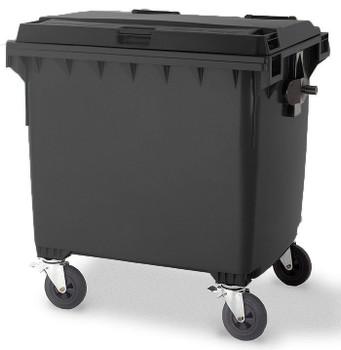 Black Wheelie Bin - 1100 Litre