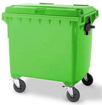Lime Green Wheelie Bin - 1100 Litre