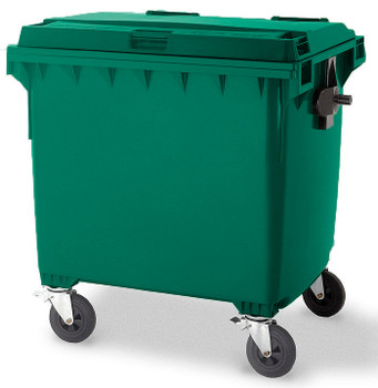 Moss Green Wheelie Bin - 1100 Litre