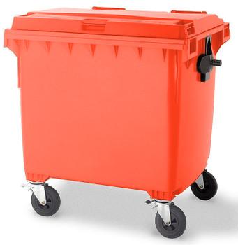 Red Wheelie Bin - 1100 Litre