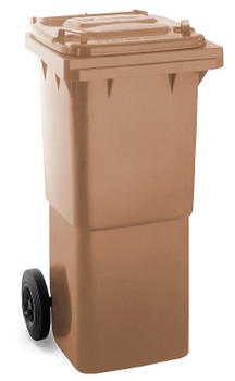 Brown Wheelie Bin - 60 Litre
