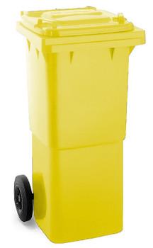 Yellow Wheelie Bin - 60 Litre