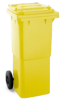 Yellow Wheelie Bin - 60 Litre