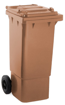 Brown Wheelie Bin - 80 Litre