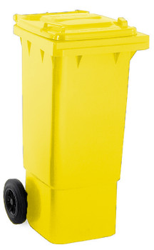 Yellow Wheelie Bin - 80 Litre