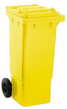 Yellow Wheelie Bin - 80 Litre