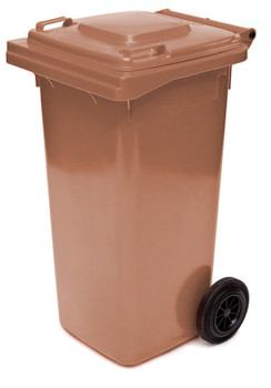 Brown Wheelie Bin - 120 Litre