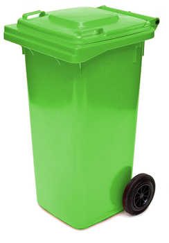 Lime Green Wheelie Bin - 120 Litre