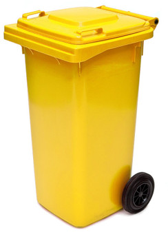 Yellow Wheelie Bin - 120 Litre