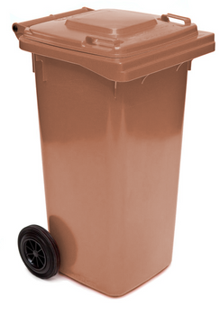 Brown Wheelie Bin - 140 Litre