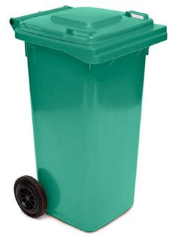 Moss Green Wheelie Bin - 140 Litre