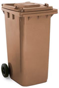 Brown Wheelie Bin - 240 Litre