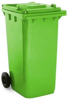 Lime Green Wheelie Bin - 240 Litre