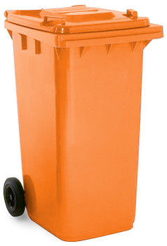 Orange Wheelie Bin - 240 Litre