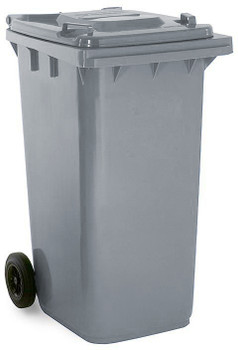 Steel Grey Wheelie Bin - 240 Litre