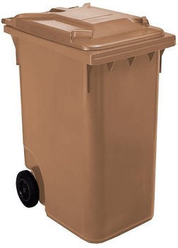 Brown Wheelie Bin - 360 Litre