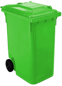 Lime Green Wheelie Bin - 360 Litre