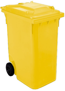 Yellow Wheelie Bin - 360 Litre