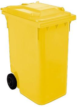 Yellow Wheelie Bin - 360 Litre