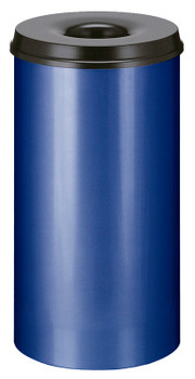Vepa Self Extinguishing Waste Paper Bin 50 Litres - Blue / Black