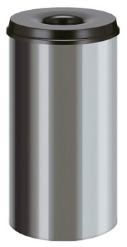 Vepa Self Extinguishing Waste Paper Bin 50 Litres - Stainless Steel