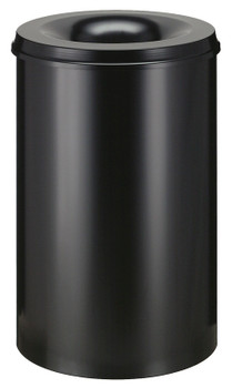 Vepa Self Extinguishing Waste Paper Bin 110 Litres - Black