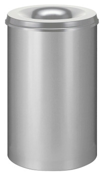 Vepa Self Extinguishing Waste Paper Bin 110 Litres - Light Grey